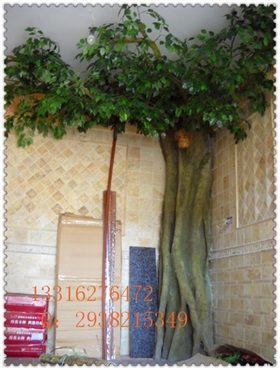 仿真榕树叶装饰 园林工程仿真叶子批发 仿真假树叶