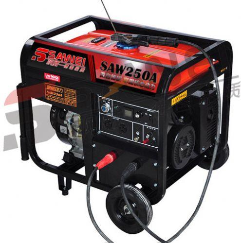 飒威汽油发电机带电焊机组250a