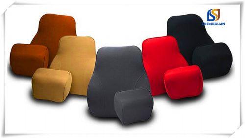 Polyester car foam waist cushion pillow