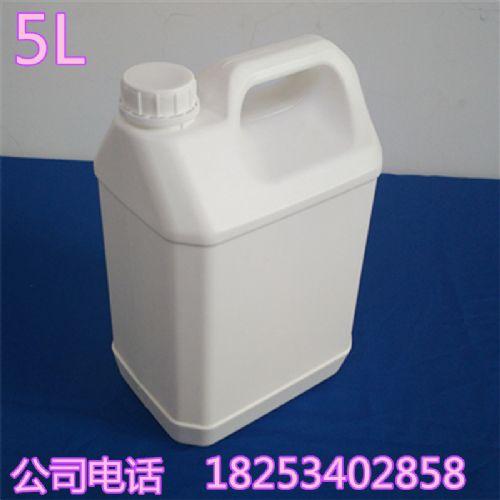 新利5公斤白色扁形塑料桶食品级