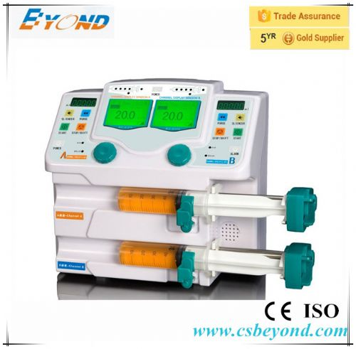 Double channel syringe pump with voice alarm system in China