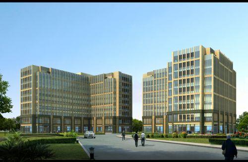 欧式办公楼效果图 九层