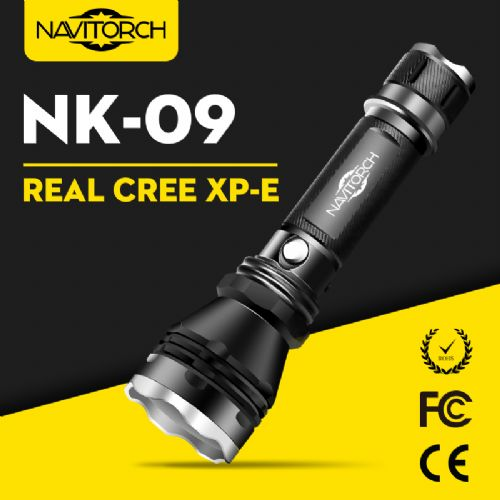 CREE XP-E LED Waterproof Rechargeable Aluminum LED Flashlight