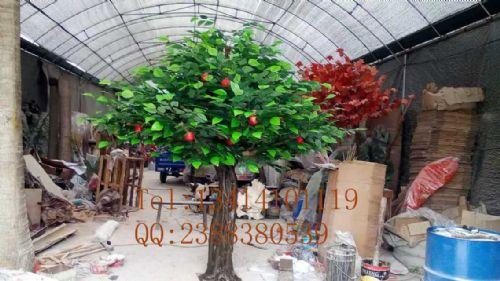 圣缘景观仿真苹果树假橙子树人造芒果树摄影