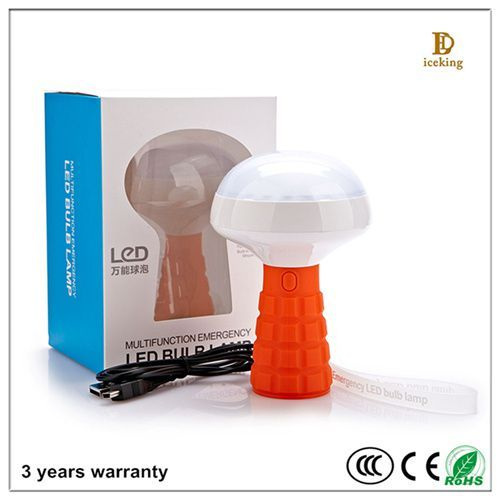 New Type Multi-functional rechargeable emergency LED bulb light