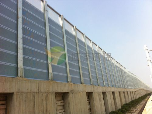 Isolation type sound insulation barrier