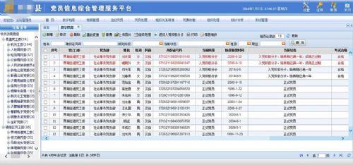 环球软件党员数字档案管理系统 价格:200000元/套