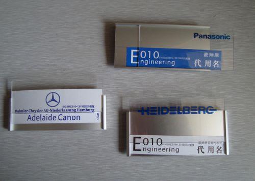 custom cheap silver name tag manufacturer
