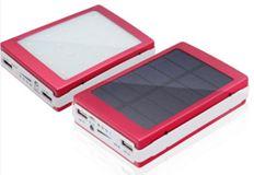 Portable solar powerbank with LED light