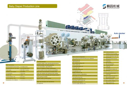 SC full servo baby diaper machine production line
