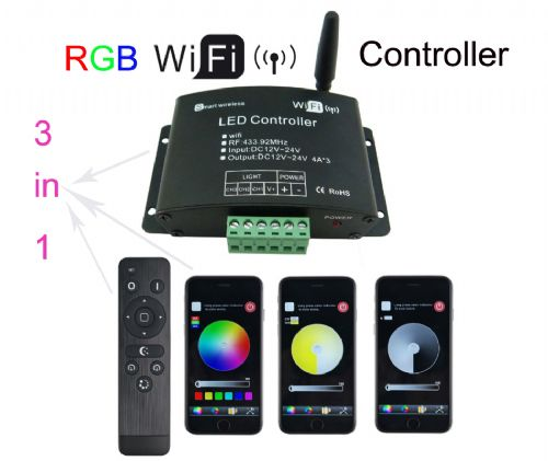 3 In 1 WIFI LED RGB Controller DC 12-24V