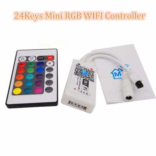 Mini WIFI LED RGB Controller + 24 KeysRemote Control DC 5-24V