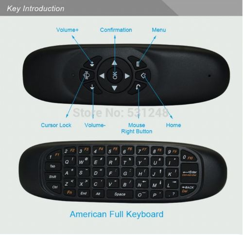 2.4Ghz c120 air mouse wireless airmouse remote contro