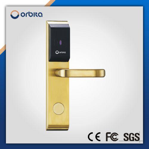 golden hotel room door lock