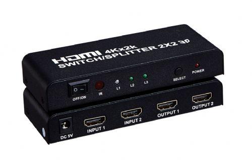 索飞翔HDMI切换分配器二进二出