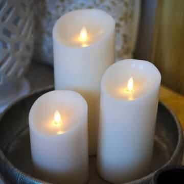 battery operated moving wick led candles with remote control