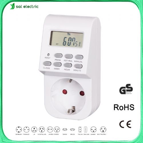 digital weekly timer socket with EU plug