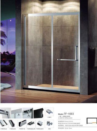 浩湟TF1003一字型淋浴房 价格:1999元/个