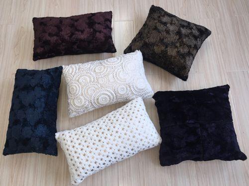 pv fleece cushion with foil print