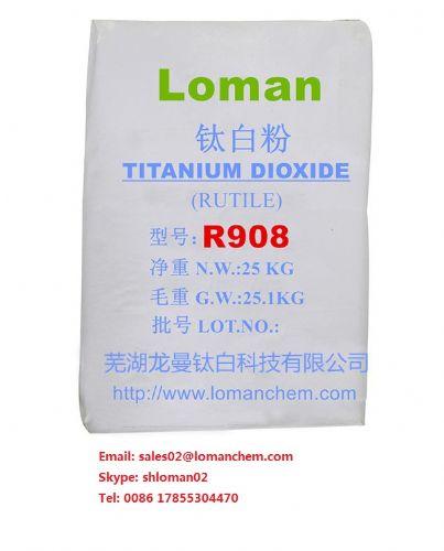 Rutile Tio2 R908,titanium dioxide, paints coating plastic