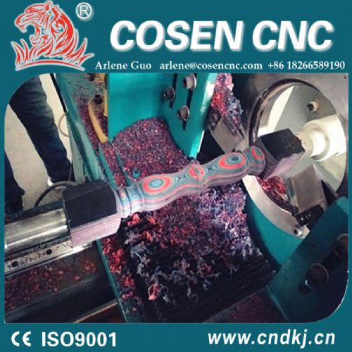 Competitive price cnc wood lathe for color wood work