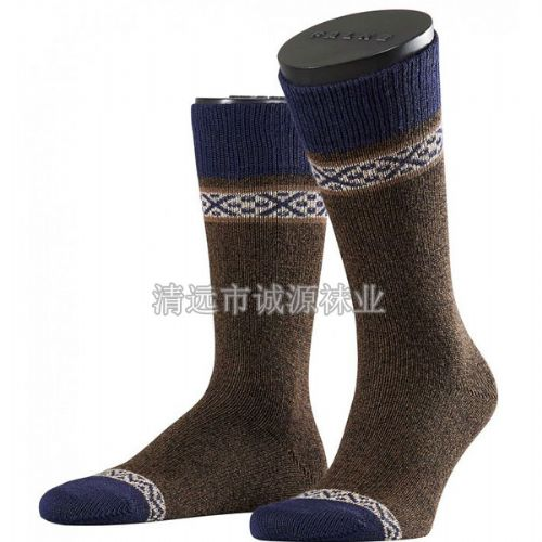 广东袜子加工厂生产批发男士袜 粗针男袜