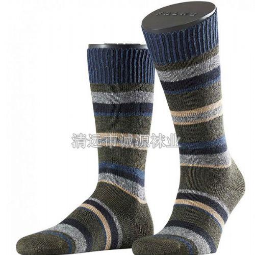 男士袜 粗针男袜 毛线男袜 双针袜广东佛山袜子工厂