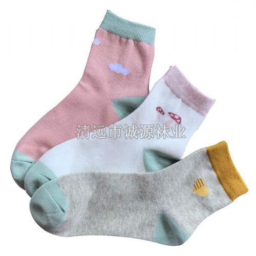 女士休闲袜,运动女袜 纯棉女袜,女式船袜,女士短筒