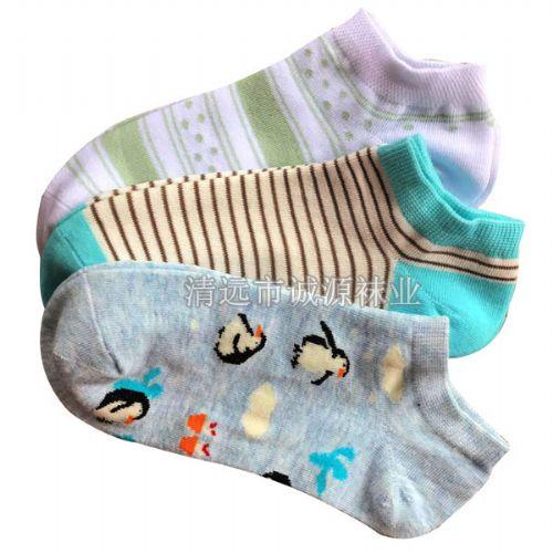 时尚女袜 短筒女袜 女船袜 纯棉女袜广东佛山袜子工厂