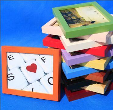 实木相框定做木质加厚相框画框67810寸A4***照片墙挂
