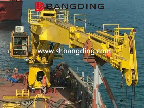 邦鼎BANGDING5t25m液压伸缩船用吊机