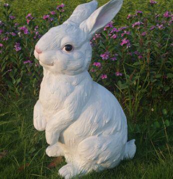 户外园林景观庭院工艺品摆件仿真动物花园写实小兔子工