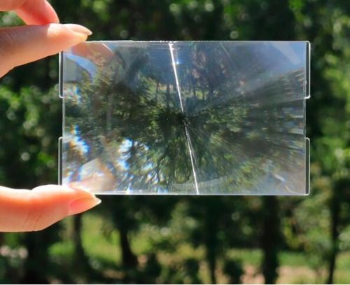 菲涅尔透镜LED成像太阳能聚热镜片直径110*90mm