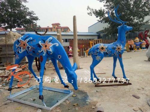 上海康大雕塑梅花鹿雕塑摆件大型园林景观小区公园