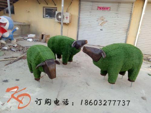 上海康大雕塑草地绿化园林装饰玻璃钢雕塑景观小品摆件