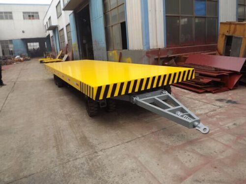 工厂货物周转平板车 小吨位平板半挂车 厂区货物运输车