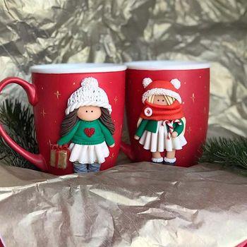 Ceramic polymer clay mug