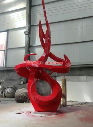 不锈钢企业雕塑工程 企业雕塑红色烤漆
