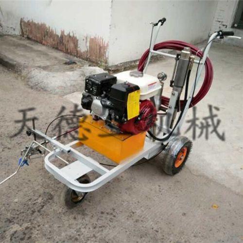 液压手推常温冷喷划线机  本田汽油机柱塞泵马路划线机