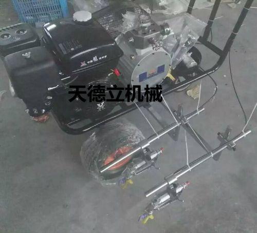 宗申汽油机双枪划线机 手推式双枪划线机 隔膜泵划线机