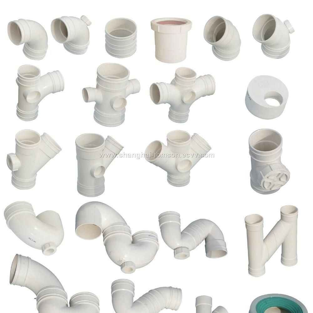 Pvc sewer pipe fittings dimensions pictures to pin on for Plastic plumbing pipe types
