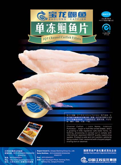 IQF Channel Catfish Fillets