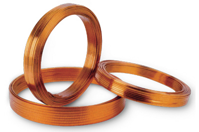 Polyimide-F46 composite film wrapped rectangular copper wire