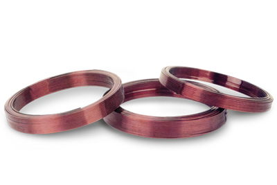 Enamelled rectangular copper wire