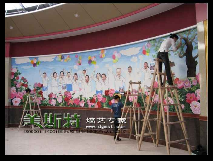 东莞墙面彩绘|手绘墙画|幼儿园彩绘公司