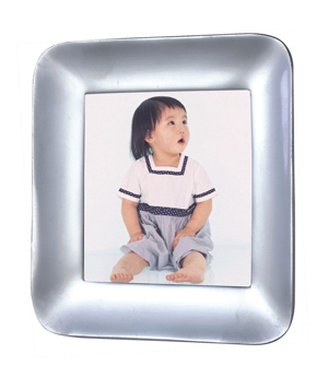 AX0222 Contour Square Sand cast 3x3 Alum. Alloy Photo Frame