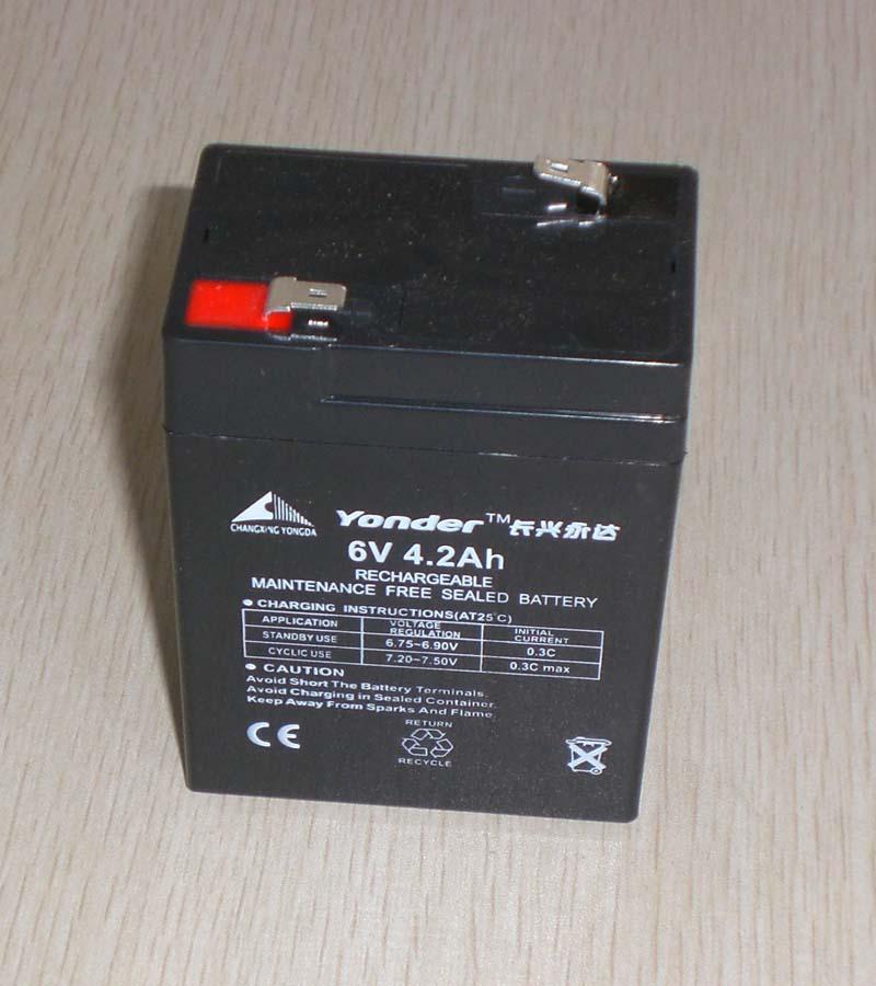 6V4.2AH lead acid battery