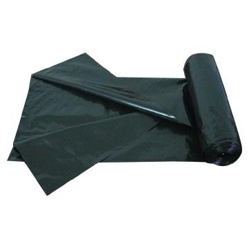 LDPE black garbage bag (Plastic bag/Trash bag/Roll bag)