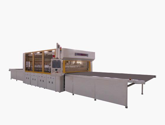 产品简介 sysc-f系列全自动太阳能电池组件层压机由a,b,c三级结构