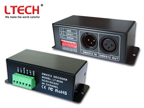 LED RGB Controller DMX512 Decoder Lt-8020